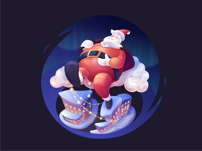 Santa winter presents midnight santa claus holidays new year christmas