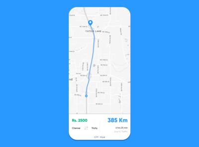 Car Ride App Simple UI Quick Design.