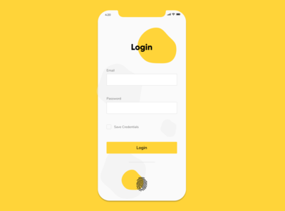 Login with fingerprint
