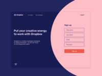 Alternative Dropbox Landing Page