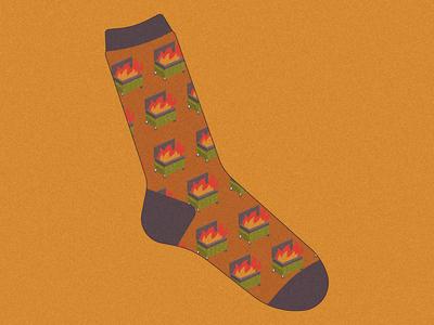 Sad Socks™ Dumpster Fire