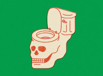 skull toilet