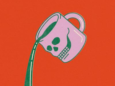 skull coffee