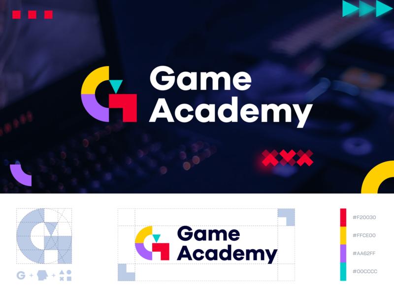 Game Academy Logo 01 illustrator vector graphic design design logo console courses online gaming academy gamer game