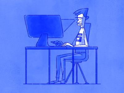 Proper Sitting Position oblik studio oblik photoshop drawing working computer sitting illustration