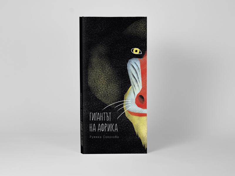 The Giant of Africa african photoshop brush photoshop baboon monkey mandrill book cover illustration africa
