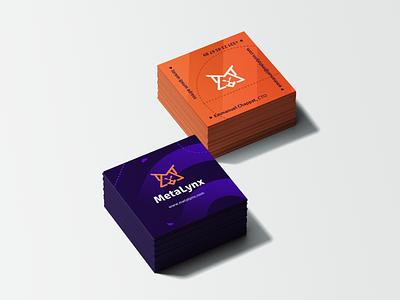 MetaLynx Business Cards technology tech sports print design identitydesign oblik studio oblik identity design identity branding branding graphic design businesscarddesign businesscards metalynx