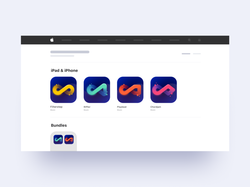 Audiomodern App Store Icons / Concept 01 colorful gradient vector figma instruments sound music app music store apple app ios icon graphicdesign oblik studio oblik