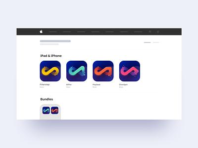 Audiomodern App Store Icons / Concept 01 colorful gradient vector figma instruments sound music app music store apple app ios icon graphicdesign oblik studio oblik