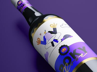 Wine Label label packaging print designer illustrator labeldesign illustration digital oblik studio oblik vector illustration design print design wine label illustration pack illustration pokyheads poky heads