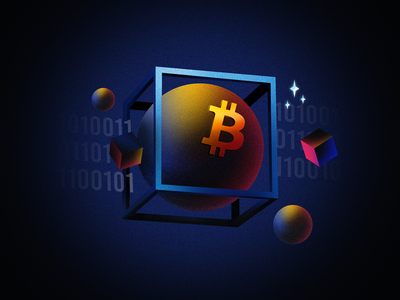 Earn X3 in BTC digital illustration creative design scifi raster photoshop crypto wallet cryptocurrency science space blockchain illustration oblik studio oblik nexo crypto earn btc bitcoin science fiction sci-fi