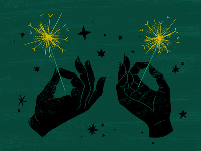 Sparklers Are Better photoshop art new year 2021 celebration hands texture photoshop sparklers sparkler illustration new years new years eve
