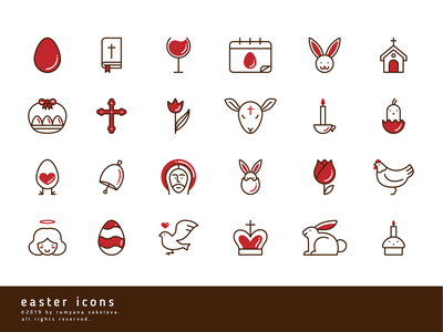 Free Easter Icons vector spring jesus christ bible chicken illustrator icons easter bunny egg holiday easter