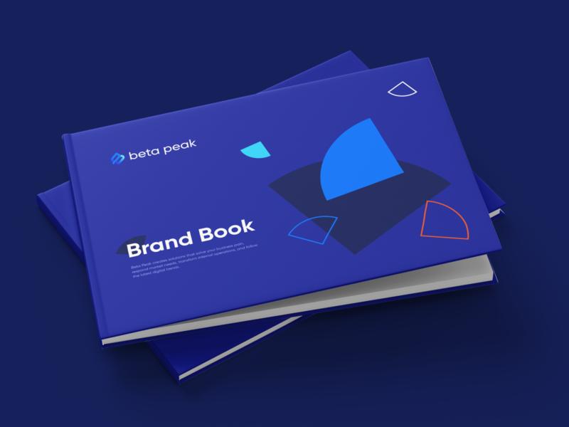 Beta Peak Brand Guidelines adobe indesign indesign brand guidelines brandbook development agency illustrator shapes gradient identity graphicdesign vector logo design branding symbol logodesign logotype design oblik studio logotype oblik