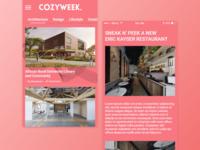 Cozyweek Mobile App - Concept