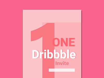 1 Dribbble Invitation graphic design invitation dribbble