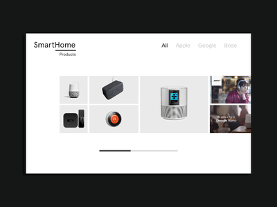 Smarthome - Landing Page product design web design white black minimal design ui landing page design