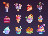 Set of icons  food. Vector illustration.