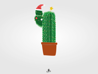 Not your everyday christmastree jinglebells festive illustrator cactus green christmas