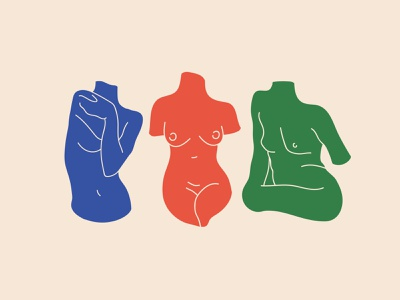 International Women's Day womxn nude vector figure studies feminist international womens day