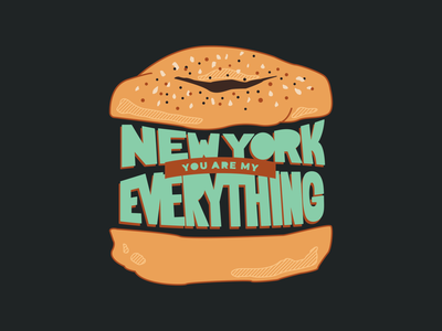 My Everything 🥯 ny food breakfast everything bagel new york bagel
