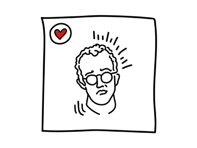 Keith Haring vector illustration nycpride stonewall pride 2019 keith haring