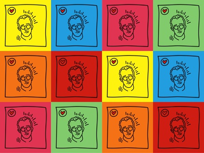 Keith Haring Collage vector illustration nycpride pride 2019 stonewall keith haring