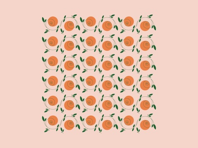 L' A R A N C I A summer orange pattern illustration vector italy fruit oranges