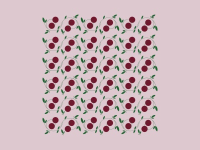 L A . C H I E G L I A illustraion vector pattern italy fruit cherries cherry