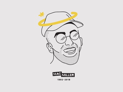 Thank you, Mac ✨ celebrity portrait vector pittsburgh illustraion rapper mac miller