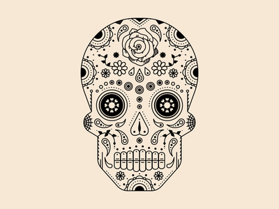 S P O O K Y . S Z N sugar skull skull vector illustration halloween weeklywarmup spooky dia de muertos day of the dead happy halloween