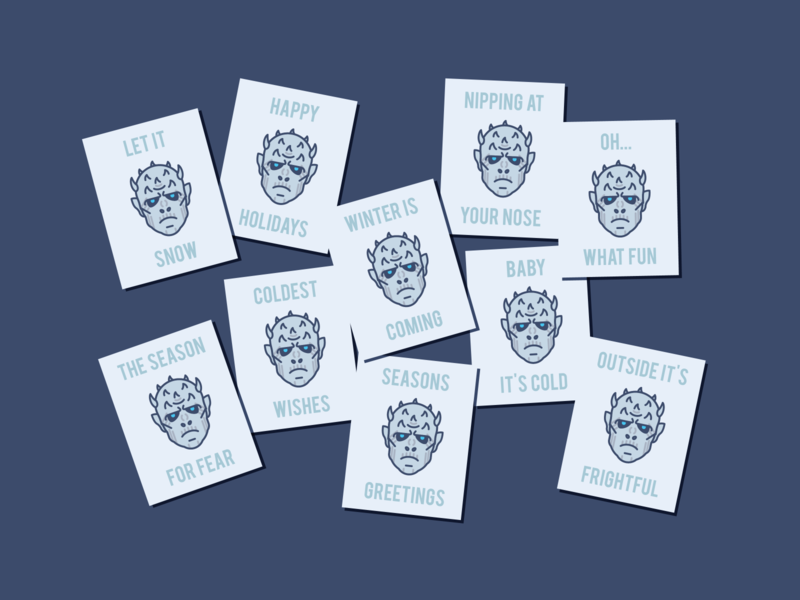 White Walkers' Holiday Card winter is coming cold night king family vector illustration winter game of thrones holiday card white walkers weeklywarmup