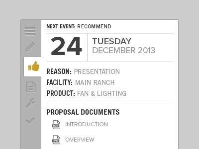 Proposal Process tabs date steps process ui