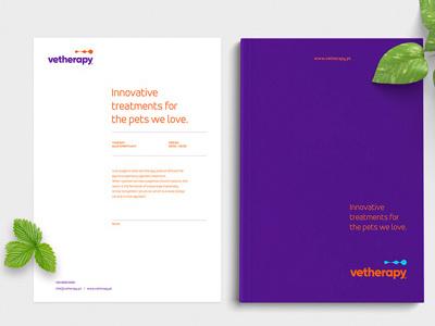 Vetherapy Identity logo design pet biotech startup corporatebranding branding