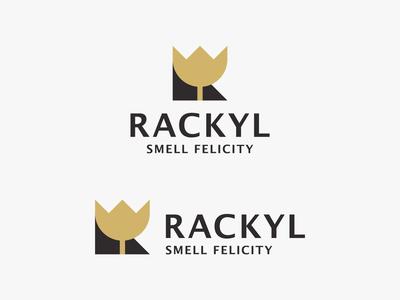 Rose + Letter R Logo - Perfume Brand