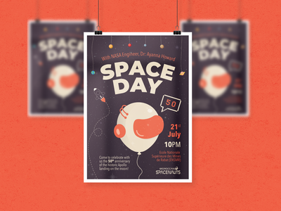 Space Day Event Poster