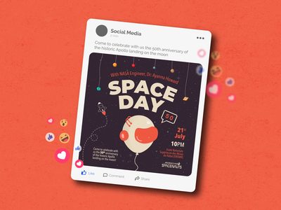 Space Day Event, Instagram post