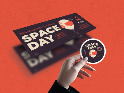 Facebook Cover, Sticker, Identity design for Space Day Event