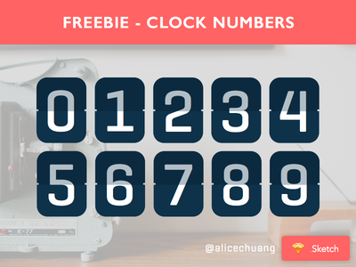 Sketch Freebie - Clock Numbers retro countdown clock clock numbers geogrotesque sketch free freebie vector resource bohemian sketchappresources