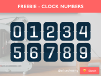 Sketch Freebie - Clock Numbers