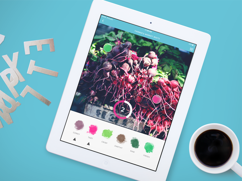 oPhone iPad Concept smellovision ipad ink stains artisanal app beets watercolor smells scents tablet senses onotes