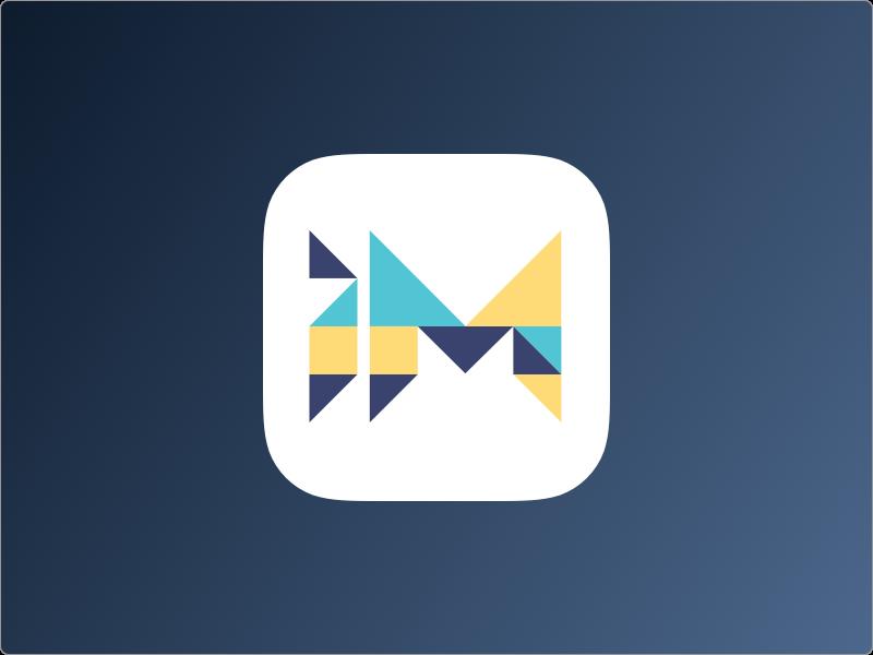 Tangram Inspired App Icon mobile education branding app icon flat shapes tangram logo