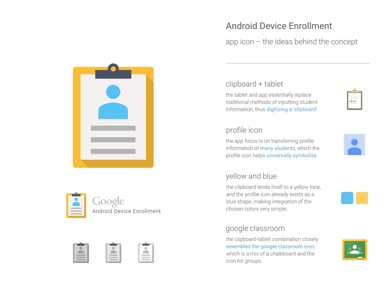 Alice Chuang / Projects / Android Enrollment App Icon | Dribbble