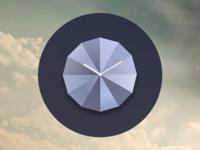 Origami Stone Clock