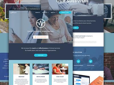 Wellframe Website website application chat dashboard doctor flat health patient medical