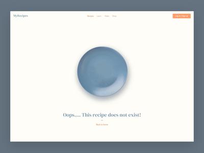 #DailyUI 008 - 404 recipes cooking 404 web dailyui