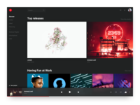 #DailyUI 009 - Music Player (YouTube Music Redesign)