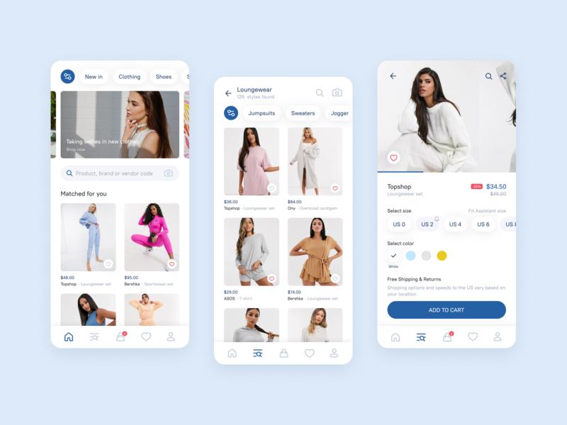 Shop women's clothes app