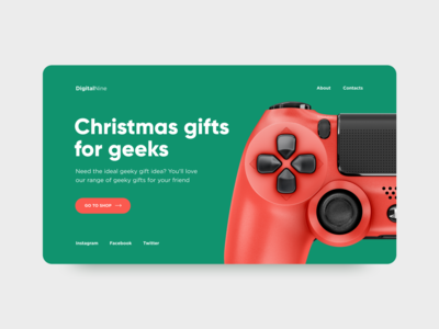 Christmas page concept