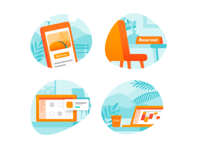 Spot illustrations for website